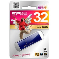 USB карта памяти Silicon Power Blaze B05 32GB 3.0 Синяя