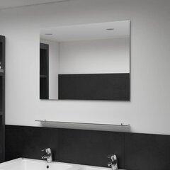 vidaXL sienas spogulis ar plauktu, 80x60 cm, rūdīts stikls cena un informācija | Spoguļi | 220.lv