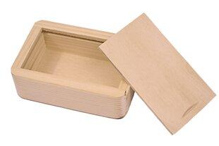 Koka kastīte USB atmiņai 10x7,5x3,5 cm cena un informācija | Rotaslietu lādītes | 220.lv