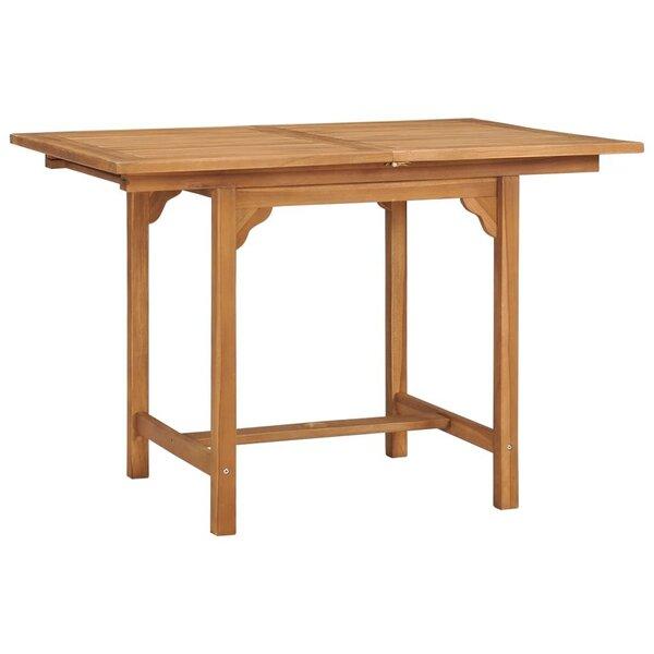 vidaXL izvelkams dārza galds, (110-160)x80x75 cm, masīvs tīkkoks atsauksme