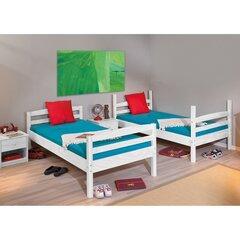 Двухъярусная кровать Rick 90 x 190 см, белый цена и информация | Детские кровати | 220.lv