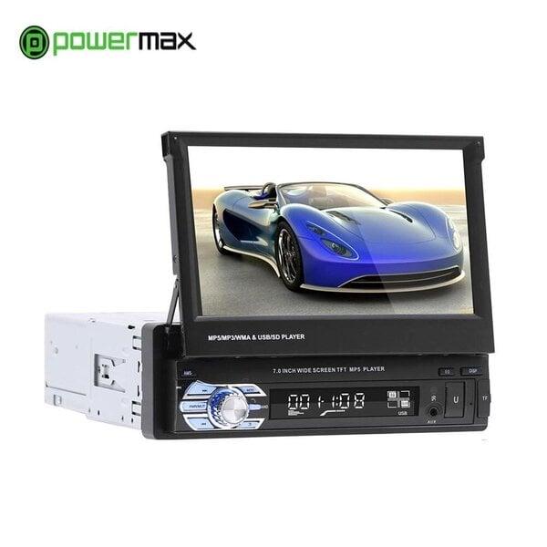 Universāls izvelkams 1DIN automašīnas radio Powermax PCM01 - WIFI, Bluetooth, radio, TF, USB, AUX cena un informācija | Auto magnetolas | 220.lv