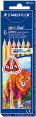 Цветные карандаши 6 цветов NC triplus Jumbo, Staedtler / 10 цена и информация | Канцелярия | 220.lv