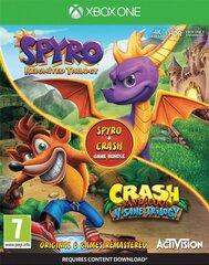 Xbox One Spyro Reignited Trilogy and Crash Bandicoot N. Sane Trilogy Double Pack cena un informācija   Xbox One Spyro Reignited Trilogy and Crash Bandicoot N. Sane Trilogy Double Pack   220.lv