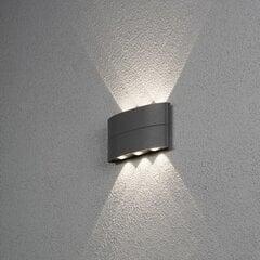 Āra sienas apgaismojums Chieri 8 W LED, tumši pelēks cena un informācija | Āra sienas apgaismojums Chieri 8 W LED, tumši pelēks | 220.lv