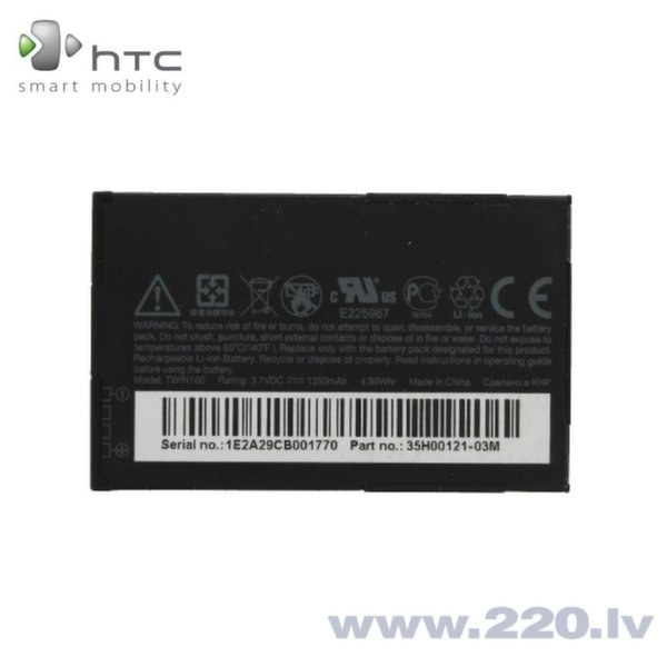 HTC BA S380 Oriģināls Akumulators Hero Android G3 Li-Ion 1350mAh TWIN160 (M-S Blister)