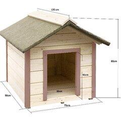 1-istabas suņa būda ar slīpo jumtu cena un informācija | Suņu gultas, spilveni, būdas | 220.lv