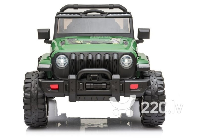 Elektriskā apvidus automašīna CH9956, zaļā krāsā cena un informācija | Elektromobīļi bērniem | 220.lv
