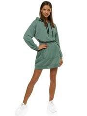 Sieviešu kleita ar kapuci Akvi O/MB2043-44902, zaļa cena un informācija | Sieviešu kleita ar kapuci Akvi O/MB2043-44902, zaļa | 220.lv