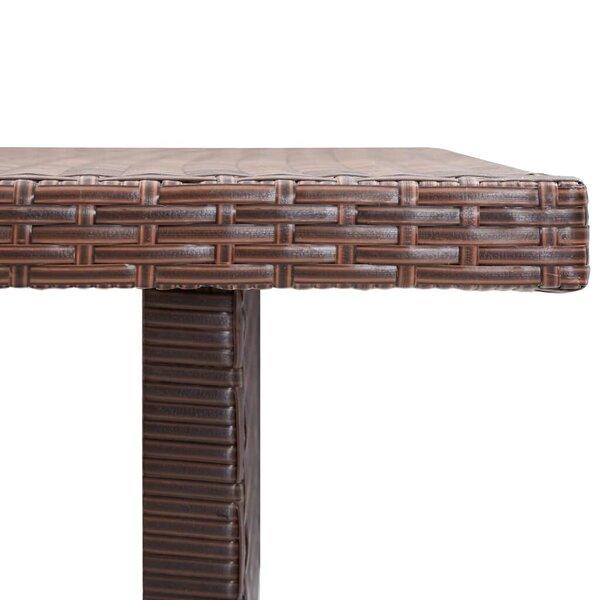 Dārza galds, brūns, 110x60x67 cm, PE rotangpalma lētāk