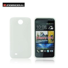 Forcell Back Case S-Line HTC Desire 300 gumijas /plastikāta telefona apvalks Balts