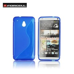 Forcell Back Case S-Line HTC One mini M4 gumijas /plastikāta telefona apvalks Zils