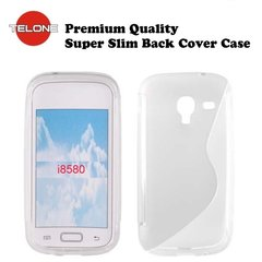 Telone Back Case S-CASE gumijots telefona apvalks priekš Samsung i8580 Galaxy Core Advance, Balts