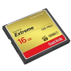 SanDisk Compact Flash Extreme card 16GB 120MB/s