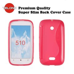 Telone Back Case S-CASE gumijots telefona apvalks priekš Nokia 510 Lumia, Rozā