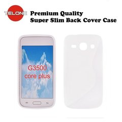 Telone Back Case S-CASE gumijots telefona apvalks priekš Samsung G350 Galaxy Core Plus, Balts