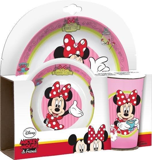 Bērnu trauku komplekts Disney Minnie, 3 daļas