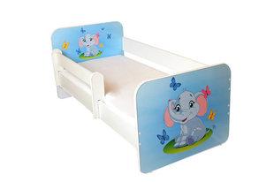 Детская кровать с матрасом и съемным барьером Ami 25, 140x70 см