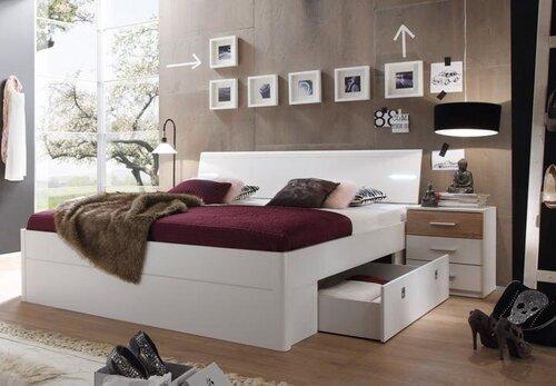 Кровать Mars 180x200 см, со светодиодной подсветкой  цена и информация | Gultas | 220.lv