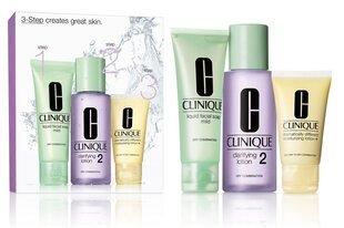 Komplekts Clinique 3 Step Skin Care System 2 cena un informācija | Sejas ādas kopšana | 220.lv