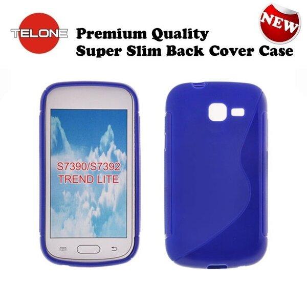 Telone Back Case S-Case Резиновый чехол для мобильного телефона Samsung S7390 Trend Lite синий