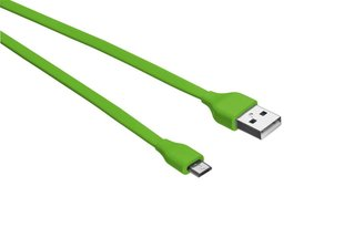 Flat Micro-USB Cable 1m - lime