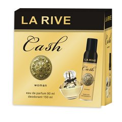 Komplekts La Rive Cash Woman: edp 90 ml + dezodorants 150 ml