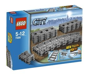 7499 LEGO® City Flexible and Straight Tracks Рельсы