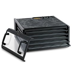 Excalibur Food dehydrator, 5 trays, Timer, Clear door, Black