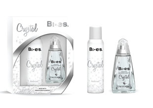 Komplekts Bi-es Crystal: edp 100 ml + dezodorants 150 ml