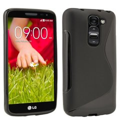 Telone Back Case S-Case gumijots telefona apvalks LG D620 Optimus G2 Mini Melns cena un informācija | Telone Mobilie telefoni, planšetdatori, Foto | 220.lv