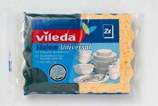 Sūklis Slalom Universal, 2 vnt VILEDA cena un informācija | Tīrīšanas piederumi | 220.lv