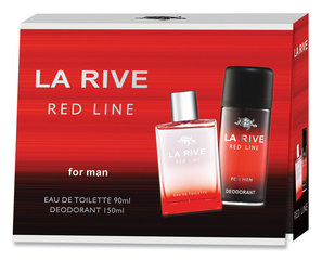 Komplekts La Rive Red Line: edt 90 ml + dezodorants 150 ml