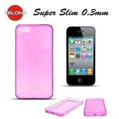 Telone Ultra Slim 0.3mm Back Case Apple iPhone 5 5S super plāns telefona apvalks Rozā
