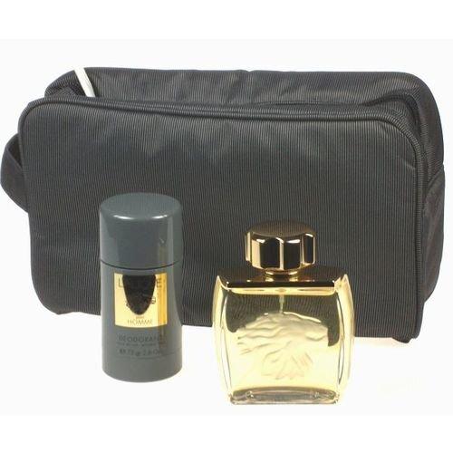 Komplekts Lalique Pour Homme: edt 75 ml + dezodorants 75 ml + kosmētikas somiņa