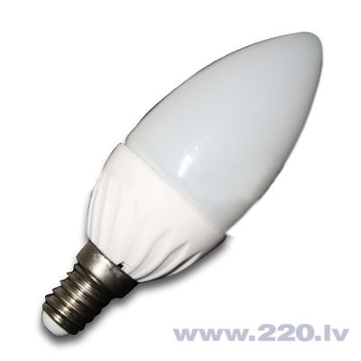 4W LED spuldze E14 (3000K) silta balta