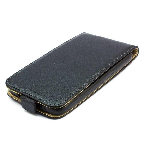 Telone Shine Pocket Slim Flip Case Nokia 730 Lumia telefona maks vertikāli atverams Melns