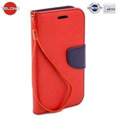 Telone Fancy Diary Book Case ar stendu Sony Xperia Z3 Compact sāniski atverams Sarkans