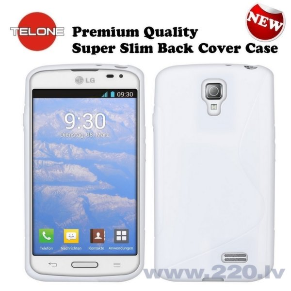 Telone Back Case S-Case gumijots telefona apvalks LG D315 Optimus F70 Balts cena