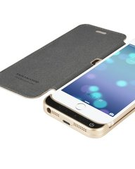 HOCO BJ-E030 iPhone 6 Ultra akumulators 3000mAh with leather Golden