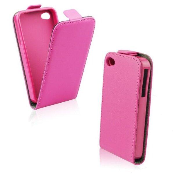 Telone Flexi Slim Flip LG F70 vertikāli atverams silikona ietvarā Rozā cena