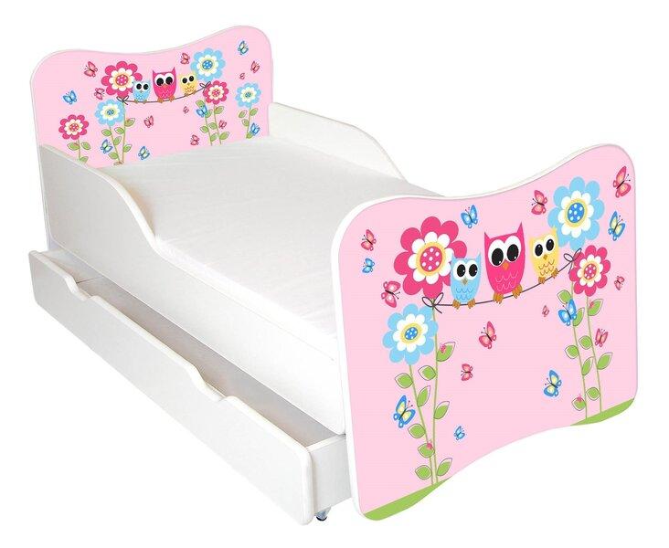 Bērnu gulta ar matraci un veļas kasti Ami 54, 140x70 cm