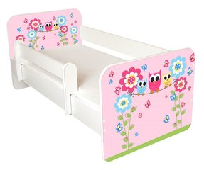 Bērnu gulta ar matraci un noņemamu maliņu Ami 54, 140x70cm