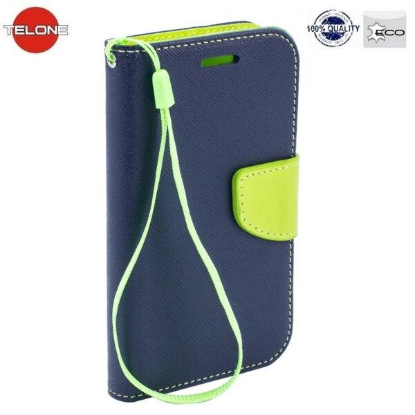 Telone Fancy Diary Book Case HTC Desire 620 Чехол-книжка со стендом Синий/Светло Зеленый