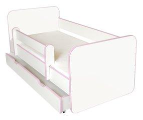 Bērnu gulta ar matraci, veļas kasti un noņemamu maliņu Ami R, 140x70cm