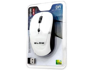 BLOW Optical Wireless Mouse MP-10 USB white cena un informācija | BLOW Optical Wireless Mouse MP-10 USB white | 220.lv