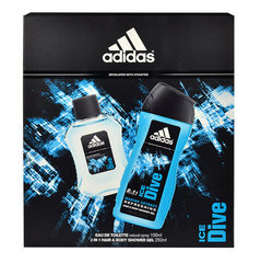 Komplekts Adidas Ice Dive: edt 100 ml + dušas želeja 250 ml
