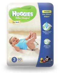 Autiņbiksītes Huggies Ultra Comfort Boys, 3 izmērs, 80 gab.