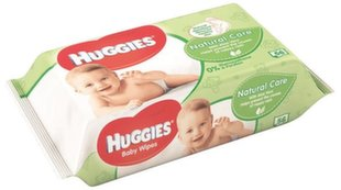 Mitrās salvetes HUGGIES Natural Care, 56gab.