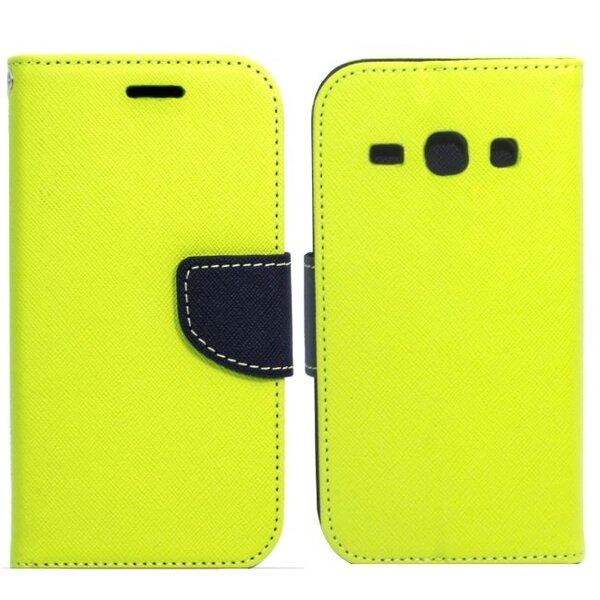 Sāniski atverams maciņš Telone Fancy Diary Book Case ar stendu priekš Huawei Honor Holly Salātkrāsas/Zils cena